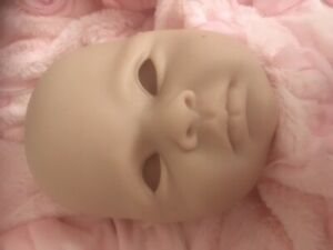 Reborn Baby Doll Head Only Unpainted From Kit