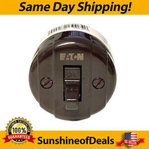 Cooper Wiring Surface Mount Switch Heavy Duty 10 A 125 V Brown (735B-Box) NEW!