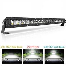 Single Row 22INCH 200W LED Work Light Bar Spot Flood  Lights Offroad ATV Truck