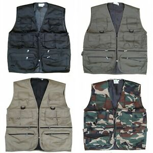 Mens Combat Army Military Waist Coat Hunter Fishing Assault Tactical Jacket Vest
