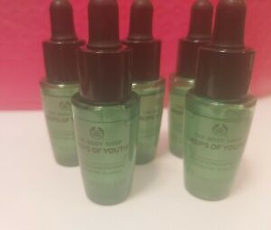The Body Shop Drops of Youth Concentrate 7ml Sample New X 3 Sample Bottles