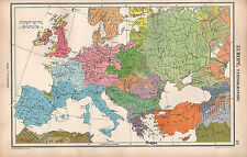 1952 MAP ~ EUROPE  ~ ENGLISH FRANKS ITALIANS GREEKS TURKS SCANDINAVIANS