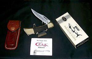 Case XX Mako Lockback Knife & Sheath 1991 Bradford Pa. W/Packaging,Papers Rare