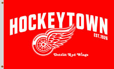 Detroit Red Wings Hockeytown Fans Souvenirs Flag 90x150cm 3x5ft Best Banner