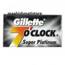100 Count Gillette 7 O Clock Super Platinum Coated Stainless Blade Smooth Shave