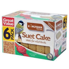 Wild Bird Feed Suet Cake - 6 Pack Value Pack - kingfisher