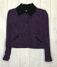 Women's AKRIS PUNTO Cropped Wool Tweed Jacket Size 6 **MINT CONDITION**
