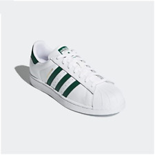 low priced 334c0 8792c adidas Superstar Unisex White Green Trainers SNEAKERS Shoes CM8081
