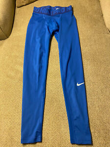 Men's Nike Pro Blue Compression Running Tights Medium M