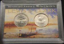 2004-TYPE I & 2~~WESTWARD JOURNEY(2) COIN SET IN DISPLAY CASE
