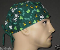 SNOOPY, BLESS YOUR IRISH HEART SCRUB HAT / FREE CUSTOM SIZING!