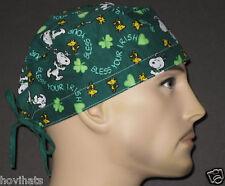 SNOOPY, BLESS YOUR IRISH HEART SCRUB HAT / FREE CUSTOM SIZING!
