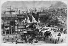 NEW YORK CITY, ALONG THE DOCKS, VIEW FROM WEST STREET