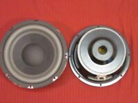"""2- 8"""" Subwoofer Speakers.4ohm.eight inch 240w.PAIR.Replacement.Bass Subs Woofers"""