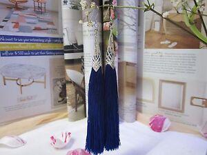 NEW - Tassel Long Earrings - Blue