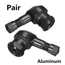 2X 11.3mm Black CNC Motorcycle 90°Rim Wheel Tire Valve Stems With Rubber O-rings