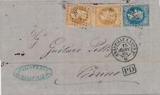 Lettre n°28x2,29 Ambulant ML2° pour Turin Cover Brief France