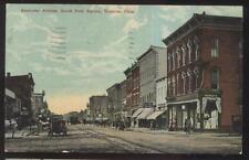 Postcard BUCYRUS Ohio/OH  Sandusky Avenue Business Storefronts 1907