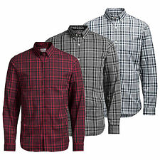 Mens Check Shirt JACK & JONES Noah Long Sleeve Collared Cotton Casual Shirt