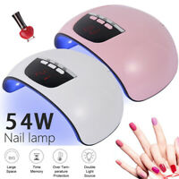 54W Nail Dryer LED Lamp UV Light for Nails Polish Gel Machine Electric Manicure.