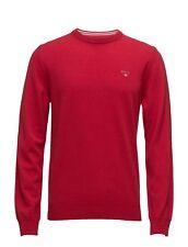 83101 GANT Cotton Wool Crew Neck Jumper in Bright Red 4XL