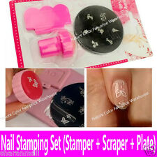 Nail Art Kit (2in1 Stamp & Scraper with 1 Image Plates) Best Gift to Girls