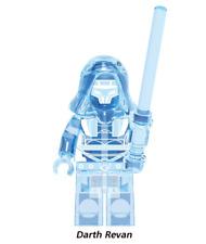 New Minifigure Custom Lego Darth Revan Crystal-Clear Character Star Wars Movie