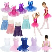 Girls Kids Lyrical Ballet Dance Dress Modern Ballroom Leotards Dancewear Costume