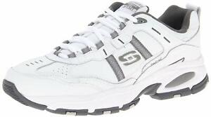 Skechers Sport Men's Vigor 2.0 Serpentine Memory Foam, White/Charcoal, Size  ge5
