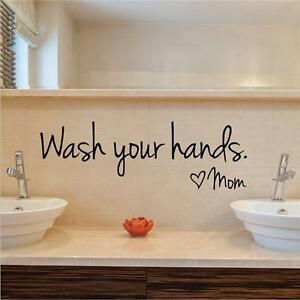 Bathroom Rules Words Quote Art Wall Sticker Removable Bath Toilet Decor Decal SO