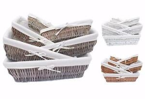 Full Wicker Strong Wider Shallow Wicker Storage Basket Xmas Hamper Basket Gift