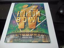 1987 FREEDOM BOWL PROGRAM NCAA FOOTBALL RARE AIR FORCE VS. ARIZONA STATE ANAHEIM
