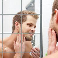Miroirs réfléchissants autocollants mural auto-adhésif chambre salle de bains