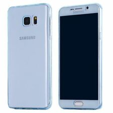 Front Back 360° Full Cover Screen touch Clear Silicone TPU Soft Case For Samsung