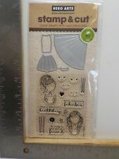 HERO ARTS DC211 DRESS UP STAMP & CUT CLEAR STAMP & DIE SET NEW A12212