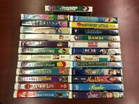 Disney 3 Tape VHS Lot - Animated Classic Movies - You Choose 3
