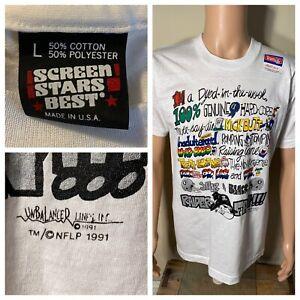 Vintage 1991 Oakland Raiders Die Hard #1 FAN Screen Stars T-shirt USA LARGE rare