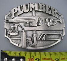 Vintage 1987 Siskiyou Plumber Belt Buckle - Made in USA