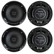 4) New Kenwood KFC-1666S 6.5 Inch 300 Watt 2-Way Car Audio Door Coaxial Speakers