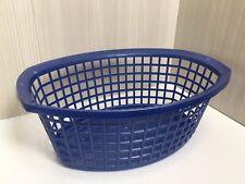 "True Vintage Laundry Oval Washing Basket Plastic  22"" x 16"" 60s 70s Retro"