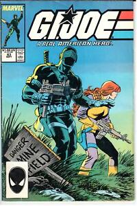 GI Joe ARAH (1982 Series) #63 September 1987 Marvel VG/FN 5.0
