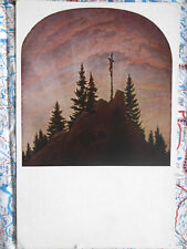 Dresden Kreuz Gebirge Gemälde Kunstwerk Postkarte Ansichtskarte 3048