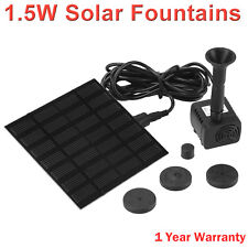 1.5W Solar Powered Water Pond Pump Home Garden Outdoor Submersible Fountains