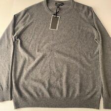 Mantovani Studio Italy Men's 100% Italian Cashmere Crew Neck Sweater- Gray Sz XL
