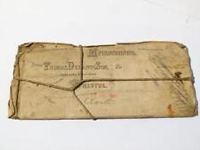 Antico 1909 Thomas Durant figlio Bristol chimico MEMORANDUM stampa in rame piastra #27
