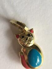 9ct Gold Cat Charm Pendant
