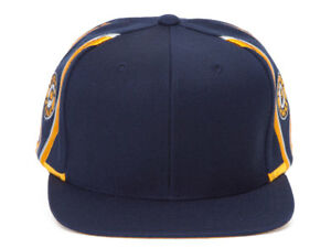 Mitchell & Ness Indiana Pacers Blank Front Short Hook Snapback