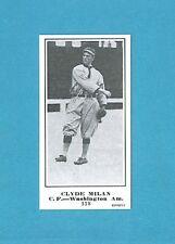 1915 M101-5 The Sporting News Reprint #118 Clyde Milan (Washington Americans)