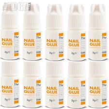 The Edge Nails Pegamento Adhesivo 10x 3g Super Fuerte Para Extensiones de consejos de uñas falsas