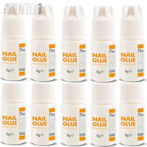 10 x The Edge Nail Glue Super Strong Adhesive For False Nail Tips Extensions